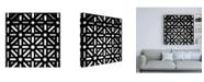 "Trademark Global Philippe Hugonnard Made in Spain 3 Catholic Details in the Mezquita of Cordoba B&W Canvas Art - 36.5"" x 48"""