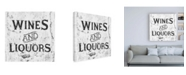 """Trademark Global Philippe Hugonnard Made in Spain 3 Wines and Liquors Sign B&W Canvas Art - 36.5"""" x 48"""""""