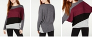 BCX Colorblocked Dolman-Sleeve Top