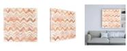 "Trademark Global June Erica Vess Red Earth Textile VIII Canvas Art - 36.5"" x 48"""