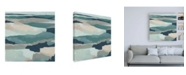 "Trademark Global June Erica Vess Blue Vista I Canvas Art - 19.5"" x 26"""