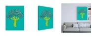 "Trademark Global Chariklia Zarris Veggie Party III Canvas Art - 19.5"" x 26"""