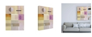 "Trademark Global Pablo Esteban Purple and Green Abstract Canvas Art - 19.5"" x 26"""