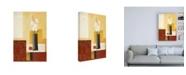 """Trademark Global Pablo Esteban White Flowers in Black Vase Canvas Art - 15.5"""" x 21"""""""
