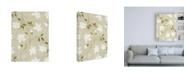 "Trademark Global Pablo Esteban White Flower Vines Canvas Art - 36.5"" x 48"""
