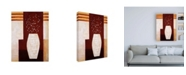 "Trademark Global Pablo Esteban Thick White Vase and Flowers Canvas Art - 15.5"" x 21"""