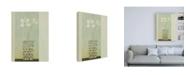 """Trademark Global Pablo Esteban White Flowers in Beveled Vase Canvas Art - 36.5"""" x 48"""""""
