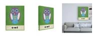 "Trademark Global Chariklia Zarris O is for Owl Childrens Art Canvas Art - 36.5"" x 48"""