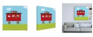 "Trademark Global June Erica Vess Circus Train IV Canvas Art - 19.5"" x 26"""