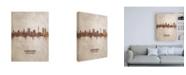 "Trademark Global Michael Tompsett Munich Germany Rust Skyline Canvas Art - 15.5"" x 21"""