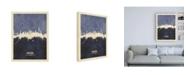 "Trademark Global Michael Tompsett Hamburg Germany Skyline Navy Canvas Art - 15.5"" x 21"""