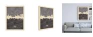 """Trademark Global Michael Tompsett Prague (Praha) Czech Republic Skyline Gray Canvas Art - 27"""" x 33.5"""""""