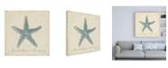 "Trademark Global Emily Adams Beach Treasures II Christmas Canvas Art - 19.5"" x 26"""