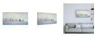 "Trademark Global Julia Purinton New York Skyline Blue Crop Canvas Art - 15.5"" x 21"""