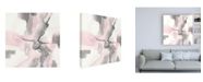 "Trademark Global Chris Paschke Blushing Grey I Canvas Art - 15.5"" x 21"""