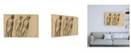 "Trademark Global Edgar Degas Three Studies of Ludovic Halevy Standing Canvas Art - 27"" x 33.5"""