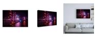 "Trademark Global Joe Azur Happy Birthday Golden Gate Canvas Art - 15.5"" x 21"""