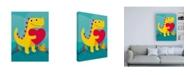 "Trademark Global Michael Buxto Dino Love Canvas Art - 15.5"" x 21"""