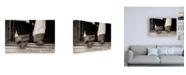 "Trademark Global Lisa Dearin Furry Chaps Canvas Art - 19.5"" x 26"""