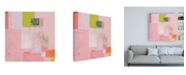 "Trademark Global Melissa Donoh Pink Squares Canvas Art - 15.5"" x 21"""