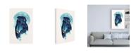 "Trademark Global Robert Farka Midnight Owl Blue Canvas Art - 15.5"" x 21"""