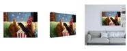 "Trademark Global Lucia Hefferna Popcorn Chickens Canvas Art - 27"" x 33.5"""