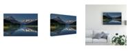 "Trademark Global Jianyi Wu Morning at Canadian Rocky Mt Canvas Art - 37"" x 49"""