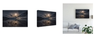 "Trademark Global Jerrywangqian Moody Lake Canvas Art - 20"" x 25"""