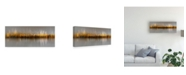 "Trademark Global Carmine Chiriaco Dubai Skyline Golden Canvas Art - 20"" x 25"""