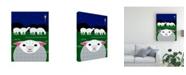 "Trademark Global Marie Sansone Vertical Christmas Sheep Canvas Art - 20"" x 25"""