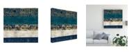 "Trademark Global Cheryl Warrick Juxtapose V Metallic Canvas Art - 20"" x 25"""