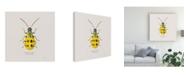 "Trademark Global James Wiens Adorning Coleoptera VII Sq Golden Canvas Art - 20"" x 25"""
