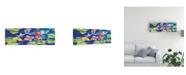 "Trademark Global Kathleen Parr Mckenna Koi Lily Canvas Art - 37"" x 49"""