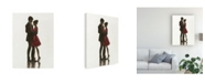 "Trademark Global Marco Fabiano The Embrace Ii Red Dress Canvas Art - 37"" x 49"""
