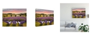 "Trademark Global Monte Nagler Lavender Chairs Horton Bay Michigan Color Canvas Art - 37"" x 49"""