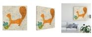 "Trademark Global Chariklia Zarris Adas Squirrel Canvas Art - 15"" x 20"""