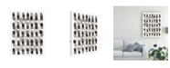 "Trademark Global Nikki Galapon Grey Slate I Canvas Art - 37"" x 49"""