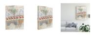 "Trademark Global Nikki Galapon Home Grid II Canvas Art - 20"" x 25"""