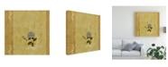 "Trademark Global Pablo Esteban Flower Over Beige Canvas Art - 36.5"" x 48"""