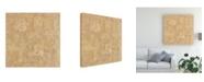 "Trademark Global Pablo Esteban Beige Line Art Texture Canvas Art - 15.5"" x 21"""