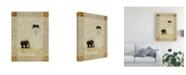 "Trademark Global Pablo Esteban Elephant Under Beige Paper 1 Canvas Art - 19.5"" x 26"""
