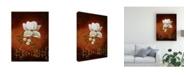 "Trademark Global Pablo Esteban White Flower Shadows 1 Canvas Art - 27"" x 33.5"""