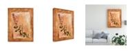 "Trademark Global Pablo Esteban Pink Flowers Painting Canvas Art - 15.5"" x 21"""