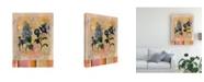 "Trademark Global Pablo Esteban Blue Flowers Distress Canvas Art - 15.5"" x 21"""
