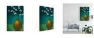 "Trademark Global Pablo Esteban Small Floral Vase 3 Canvas Art - 27"" x 33.5"""