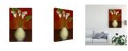 "Trademark Global Pablo Esteban Small Floral Vase 6 Canvas Art - 15.5"" x 21"""