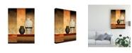 "Trademark Global Pablo Esteban Vases Over Panels 1 Canvas Art - 15.5"" x 21"""