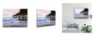 "Trademark Global Patrick Sullivan Early Morning Pier Canvas Art - 15.5"" x 21"""