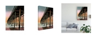 "Trademark Global Patrick Sullivan Vertical Pier Canvas Art - 15.5"" x 21"""