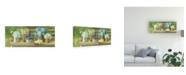 "Trademark Global Danhui Nai Summer Garden Bench Canvas Art - 19.5"" x 26"""